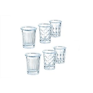 ARCOROC  Shot glas / shooter / amuse 3,4 cl set van 12 assorti  glaasjes New York