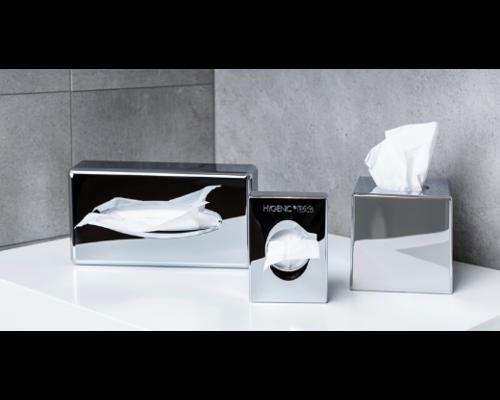 M&T Holder for facial tissues cube chromed ABS