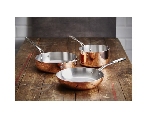 VOGUE  Sautepan conical 20 cm copper / stainless steel