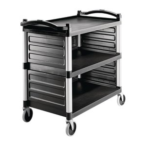 CAMBRO  Serving trolley KD model with side panels
