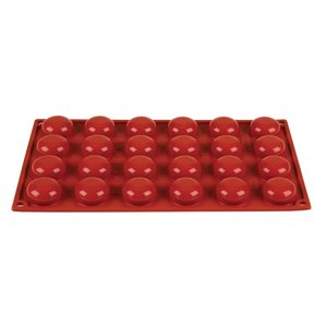 PAVONI  Pastry mould flexible silicone 24 pomponettes