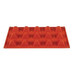 PAVONI  Pastry mould flexible silicone 15 pyramides