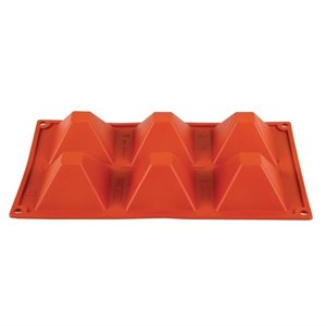 PAVONI  Pastry mould flexible silicone 6 pyramides