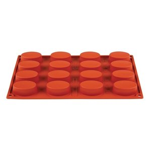 PAVONI  Pastry mould flexible silicone 16 oval