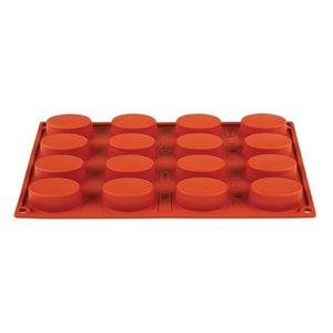 PAVONI  Patisserie vorm flexibel anti-aanbak silicone voor 16 ovale gebakjes