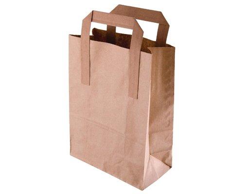 FIESTA GREEN Bruine papieren tassen recyclebaar groot ( verpakking 250 st )