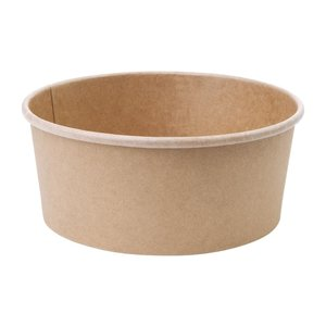 FIESTA GREEN Compostable round kraft salad bowls 50 cl  with clear lid ( box 300 pcs )