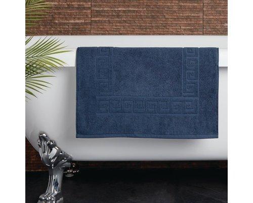 M & T  Badmat 50 x 80 cm Navy blauw