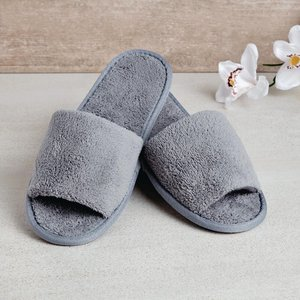 M & T  Slippers slate grey