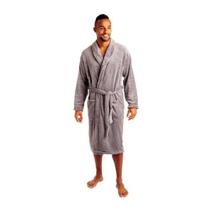 M & T  Bathrobe slate grey
