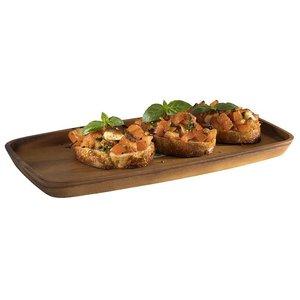 M & T  Serving tray acacia wood 35 x 25 x 2 cm