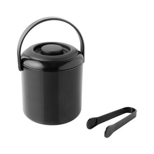 M & T  Ice cube bucket double walled black plastic 0,5 liter
