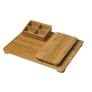 M & T  Serving tray 3 pcs set bambou wood