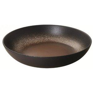 M & T  Pasta plate 24,5 cm h 6 cm Terre d' Ombre