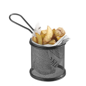 M & T  Frying & serving basket round shape