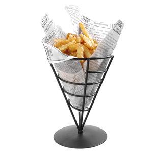M & T  French fries sachet holder  black frame