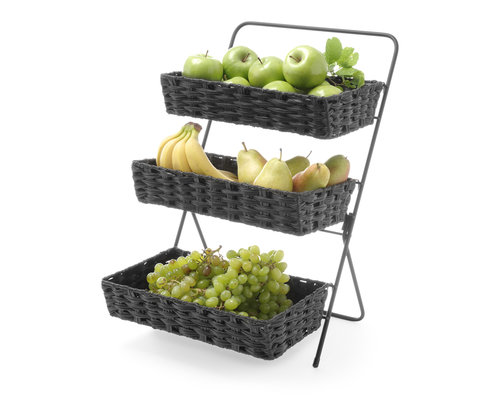 M & T  Buffet display with 3 PP baskets