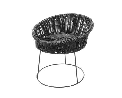 M & T  Buffet basket black PP 31 cm x 12 cm on metal stand