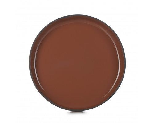 REVOL  Bord / bowl met hoge rand 23 cm x 3,3 cm Caractère Gourmande Cinnamon