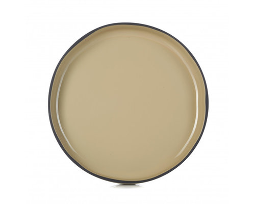 REVOL  Bord / bowl met hoge rand 23 cm x 3,3 cm Caractère Gourmande muscade