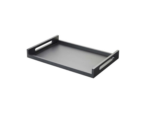 REVOL  Serving tray 60 x 40 cm Inspired black lacquered wood