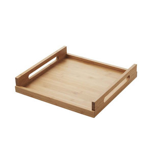 REVOL  Serving tray 25 x 25 x 7 cm Inspired bamboo wood