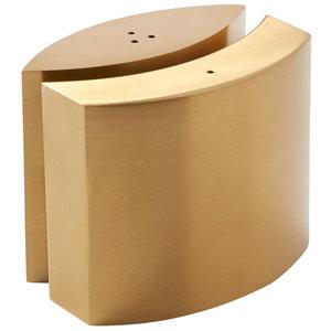 Peper- en zoutstel mat goud roestvrijstaal omarmd design vorm