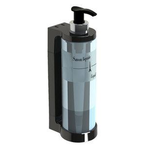 JVD Zeep-  / handgel-  / shampoo dispenser 30 cl  met pompsysteem zwart