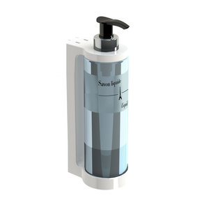 JVD Soap / shampoo / hand gel dispenser 30 cl  with pumpsystem white