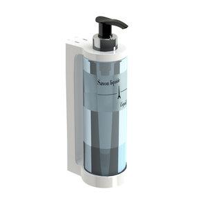 JVD Zeep / shampoo  / handgel dispenser 30 cl  met pompsysteem wit