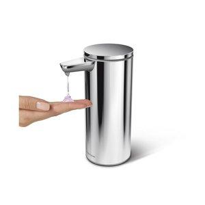 SIMPLEHUMAN  Zeep / handgel dispenser 26 cl  met oplaadbare sensor pomp gepolijst roestvrijstaal