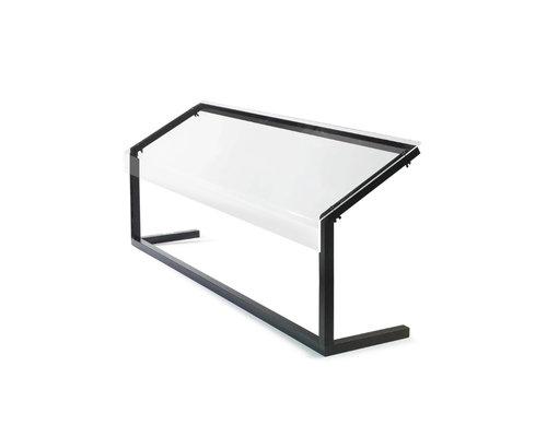 M & T  Ademschot buffet 2/1 GN, 3mm plexi glas Afmetingen : 917 x 350 x h 673 mm