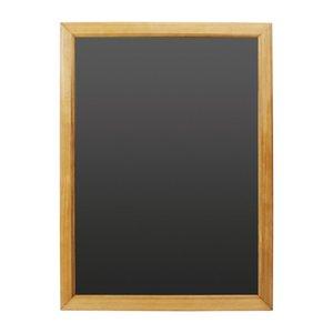 M & T  Krijtbord melamine schrijfbord met houten lijst 60 x 80 cm
