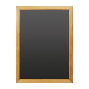 M & T  Krijtbord melamine schrijfbord met houten lijst 60 x 45 cm