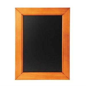 M & T  Krijtbord melamine schrijfbord met houten lijst 30 x 40 cm