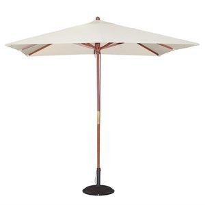 M & T  Parasol modèle carré 2,5 x 2,5 cm x h 2,7 m couleur crème