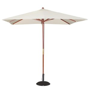M & T  Parasol square model 2,5 x 2,5 m x h 2,7 m creme color