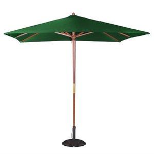 M & T  Parasol vierkant model 2,5 x 2,5 m x h 2,7 m groene nylon stof