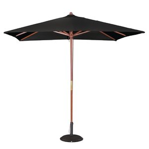 M & T  Parasol square model 2,5 x 2,5 m x h 2,7 m black color