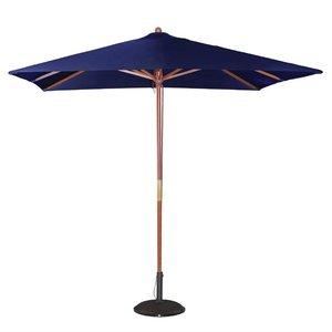 M & T  Parasol modèle carré 2,5 x 2,5 cm x h 2,7 m couleur bleu marine