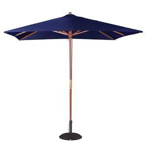 M & T  Parasol square model 2,5 x 2,5 m x h 2,7 m blue color