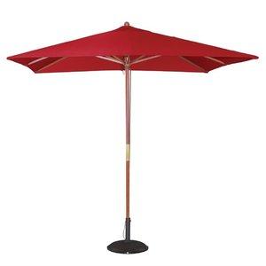 M & T  Parasol modèle carré 2,5 x 2,5 cm x h 2,7 m couleur bordeaux rouge