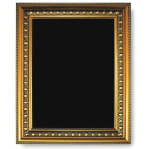 M & T  Chalkboard melamine surface with goldplated  wooden  frame 73 x 53 cm