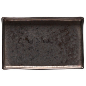 COSTA NOVA  Rectangular tray 19 x 12,5 cm  Lagoa Metal Black