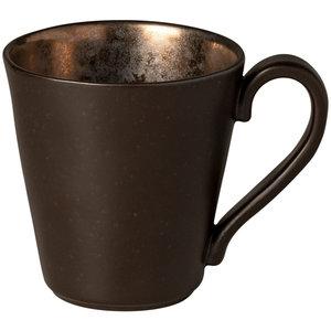 COSTA NOVA  Coffee mug with handle 31 cl Lagoa Metal Black