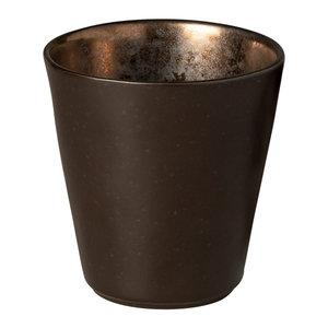 COSTA NOVA  Koffiebeker zonder oor 34 cl  Lagoa Metal Black
