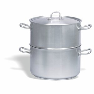 PUJADAS Steam pot - couscoussier with lid 28 cm stainless steel 18/10