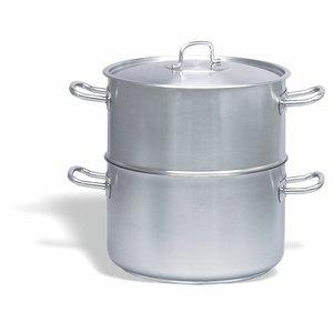 PUJADAS Stoomkookpot - Couscoussier met deksel 28 cm roestvrijstaal 18/10
