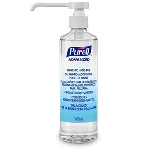 PURELL Disinfected hand gel 500 ml bottle with pump Advanced