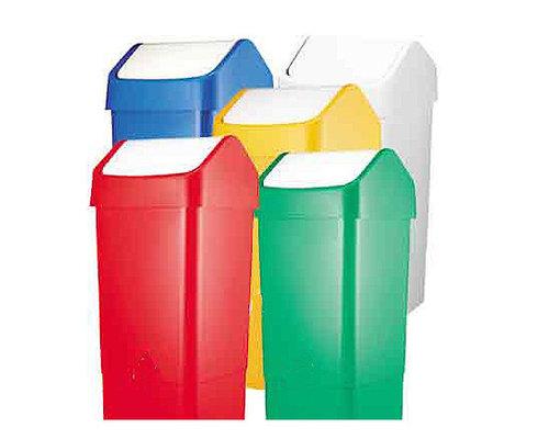 SYR  Afvalbak met schommeldeksel  50 liter wit